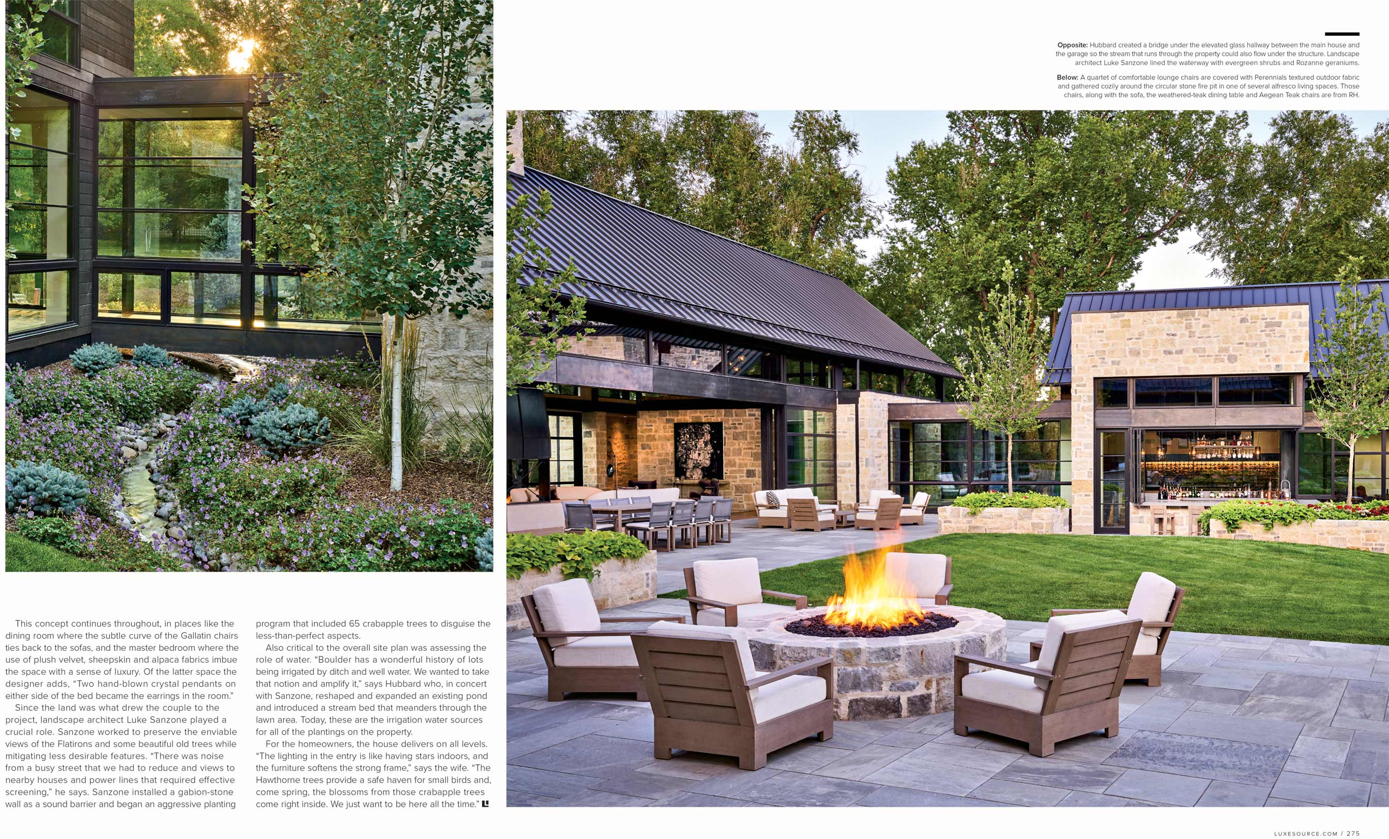 Luxe Magazine David Patterson Photography of Interior Design Architecture Colorado