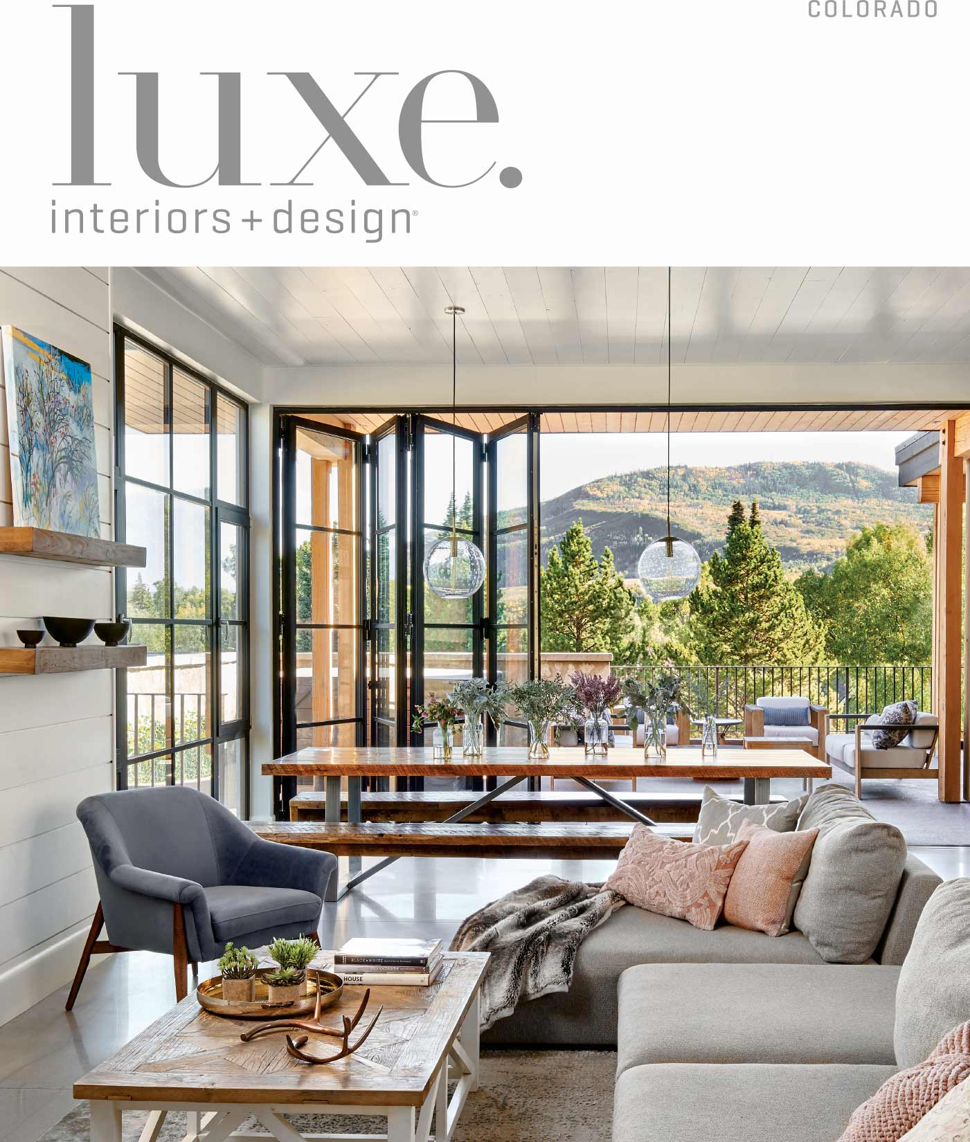 Luxe Magazine David Patterson Photography of Interior Design  Architecture  Steamboat Springs Colorado