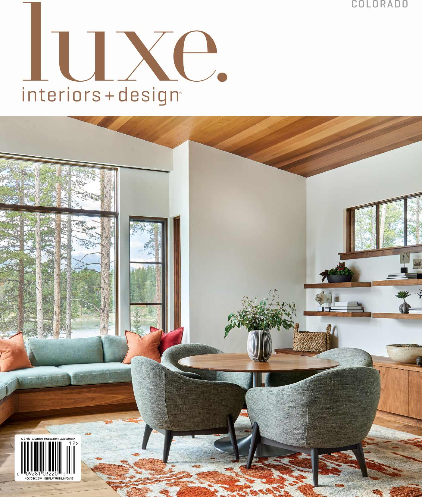 Luxe Magazine Cover David Patterson Photography of Interior Design Architecture  Breckenridge Colorado
