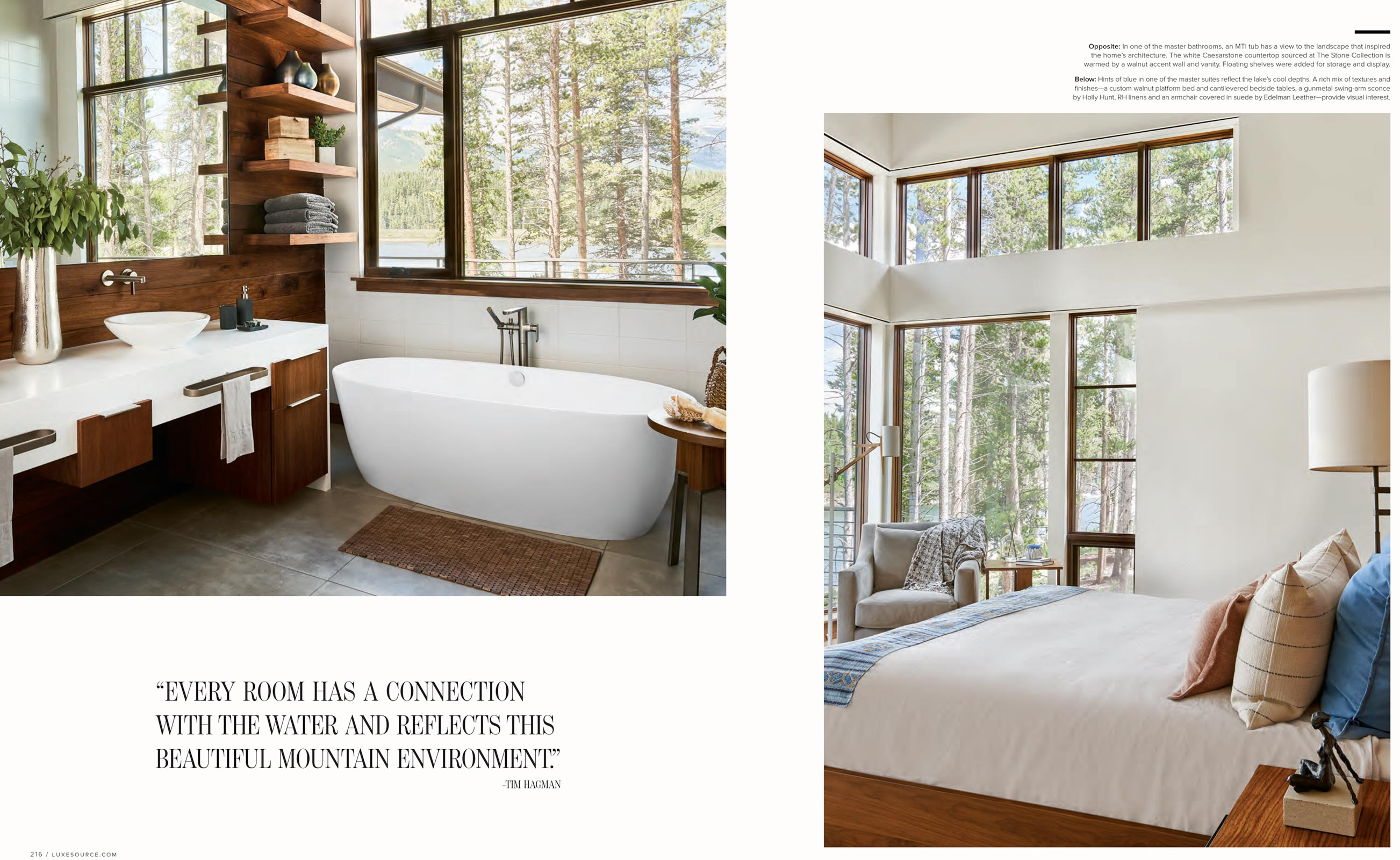 Luxe Magazine David Patterson Photography of Interior Design Architecture  Breckenridge Colorado